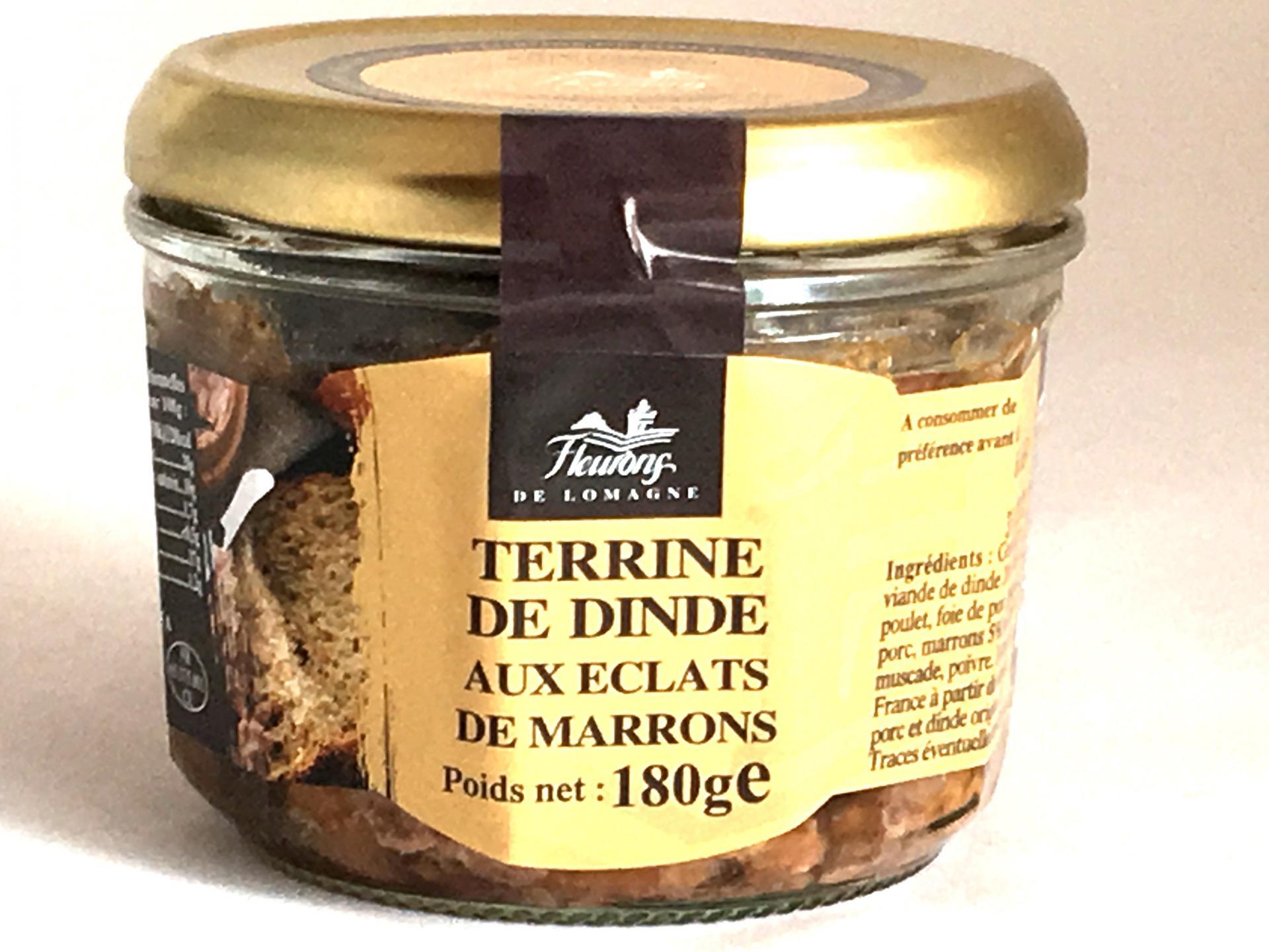Terrine de dinde aux eclats de marrons 180g