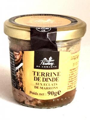 Terrine de dinde aux eclats de marrons 90g