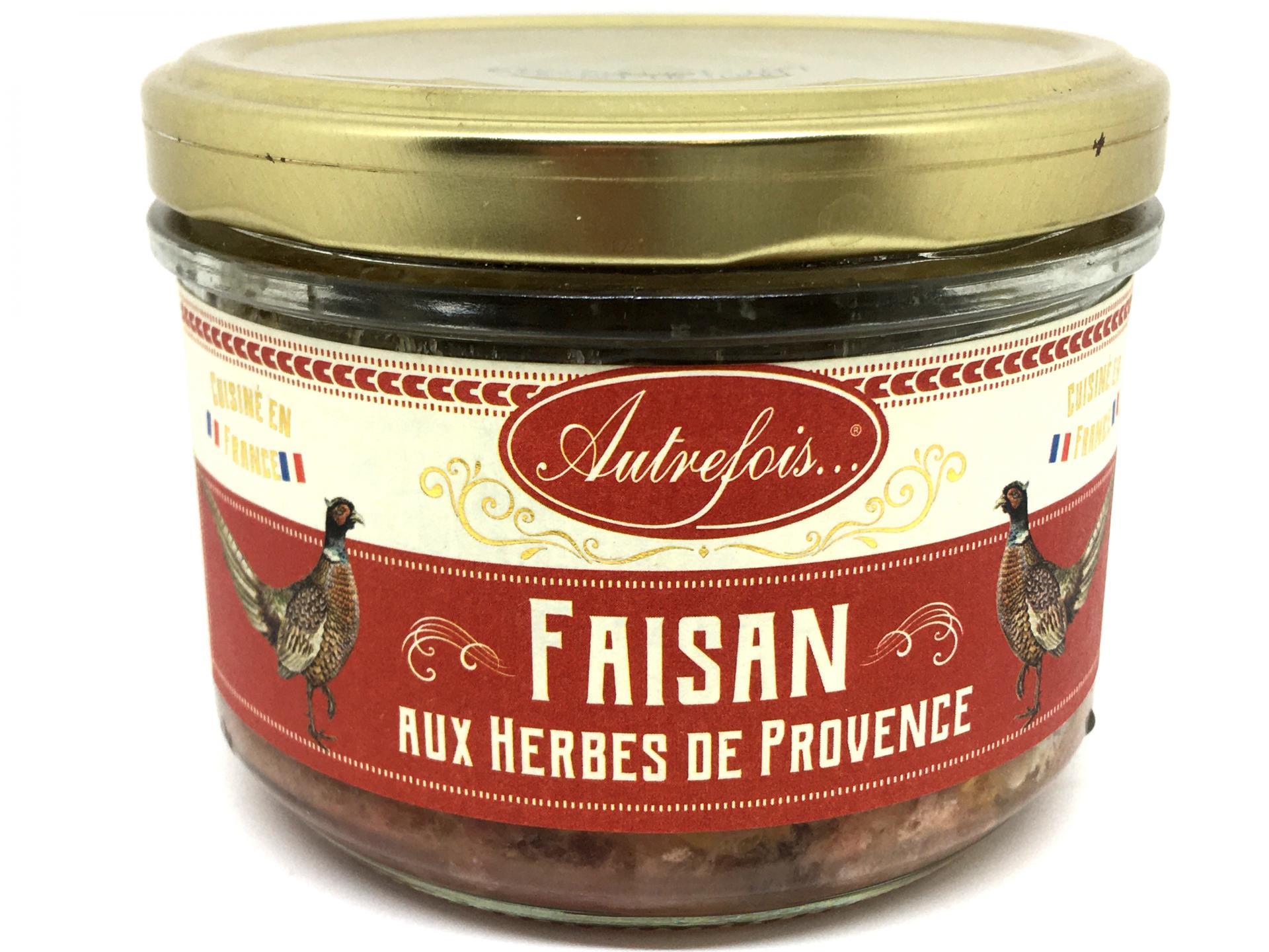 Terrine de faisan aux herbes de provence 180g autrefois terroir milhaud gard 2