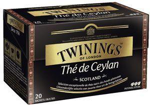 The de ceylan scotland 20 sachets twinings pour bureaux