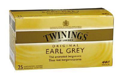 The earl grey 25 sachets twinings bergamote pour bureau
