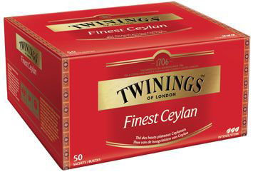 The finest ceylan 50 sachets twinings