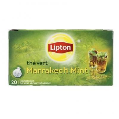 The menthe de marrakech 20 sachets lipton pour professionnels
