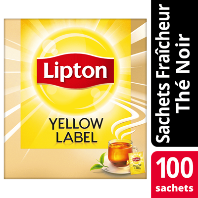 The noir yellow label 100 sachets fraicheur lipton feel good selection