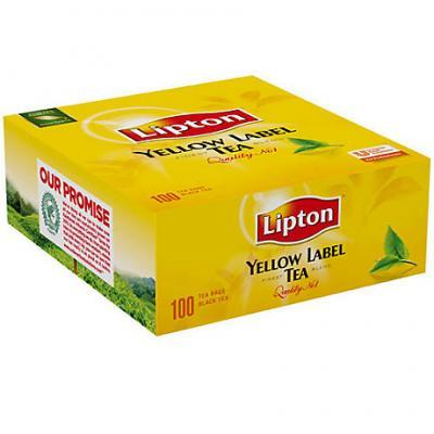 The noir yellow label 100 sachets lipton pour professionnels et collectivites