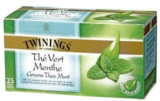 The vert a la menthe 25 sachets twinings pour bureau