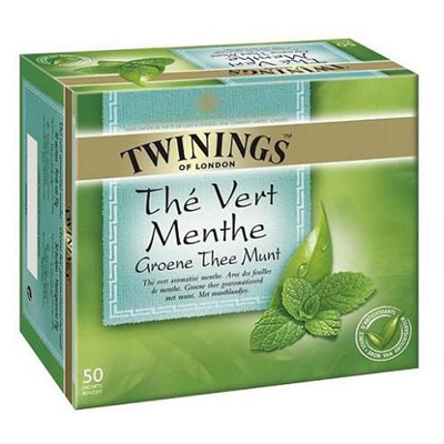 The vert a la menthe 50 sachets twinings