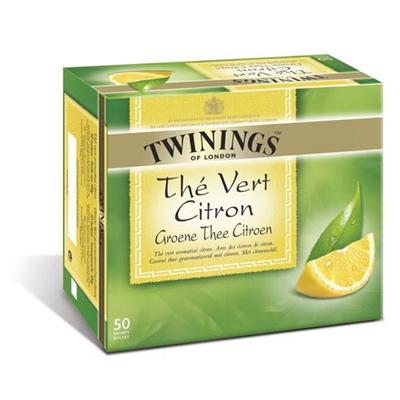 The vert citron 50 sachets twinings