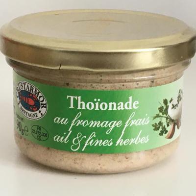 Thoionade au fromage frais ail et fines herbes 90g bocal