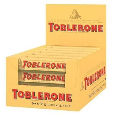 Toblerone chocolat au lait 24 x 35 g pour bureau