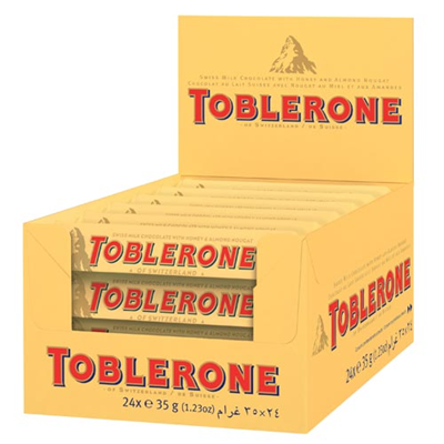 Toblerone chocolat au lait 24 x 35 g