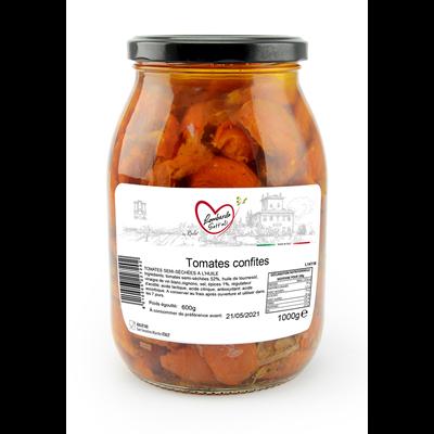 Tomates confites semi sechees bocal 1000 g lombardo sott oli