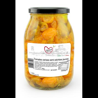 Tomates semi sechees jaunes bocal 1000 g lombardo sott oli