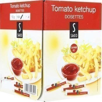 Tomato ketchup 10 g saxo vendu a l unite