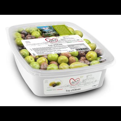 Trio d olives denoyautees 1 9 kg lombardo sott oli