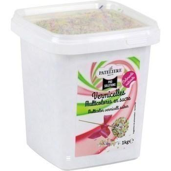 Vermicelles multicolores en sucre 1 kg