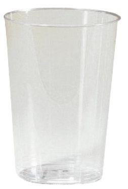 Verre en plastique jetable cristal injecte 4 cl vendu par 40