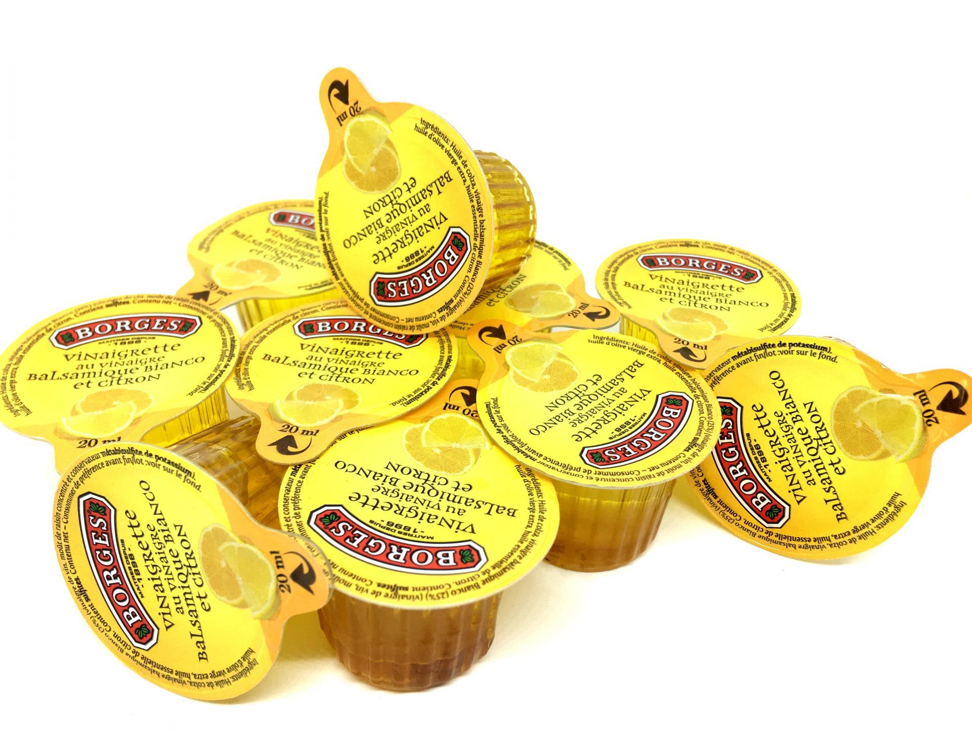 Vinaigrette huile d olive vinaigre balsamique citron 20 ml borges le lot de 10