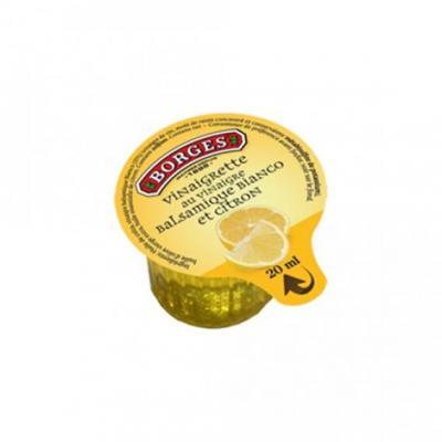 Vinaigrette huile d olive vinaigre balsamique citron 20 ml borges