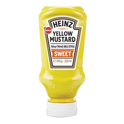 Yellow mustard sweet heinz 220 ml